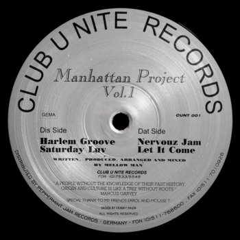 Manhattan Project Vol. 1 - Saturday Luv
