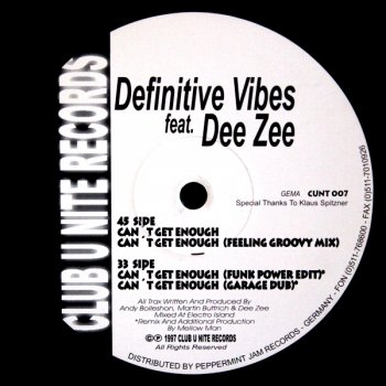 Definitive Vibes - Can't Get Enough (Garage Dub) (6:50)