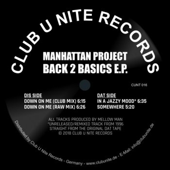 Manhattan Project - Back 2 Basics EP - Somewhere (Full Mix 9:38)